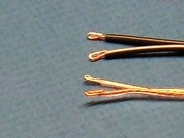 wires with folded bared portion